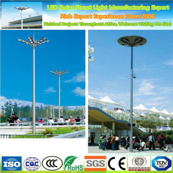 China Outdoor Sports Stadiums 25m 30 Meters Height High Mast Light Poles For Flood Light China High Pole Light High Mast Pole Light