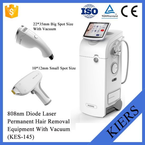 Big Spot Size Vacuum 808 Diode Laser Hair Removal Machine pictures & photos