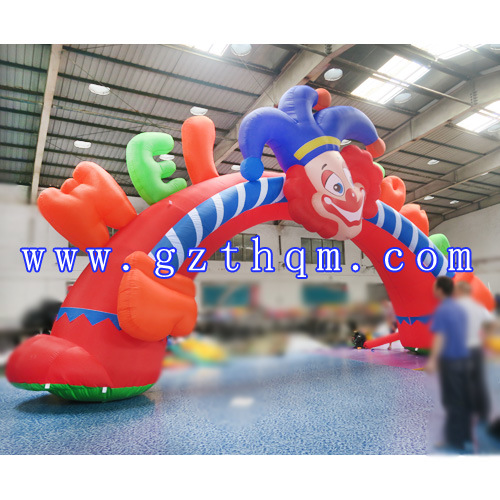 Children′s Park Clown Cartoon Inflatable Arch/Inflatable Finish Line Arch pictures & photos