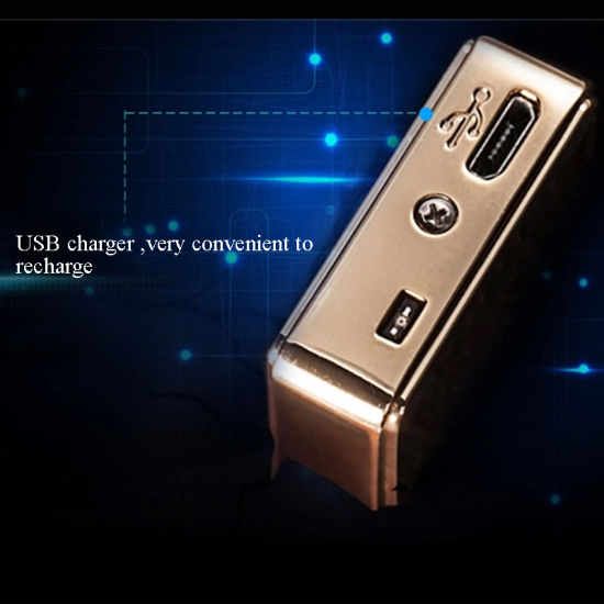 New USB Rechargeable Flameless Windproof Cigarette Lighter pictures & photos