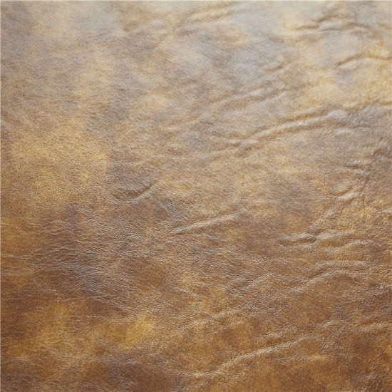 Fashion Oil Waxy Semi PU Leather for Sofa Upholstery, Furniture (768#) pictures & photos
