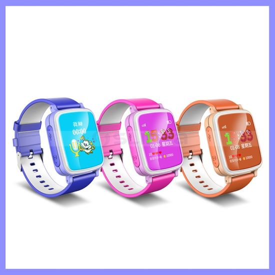 Colorful 1.44inch Screen Kids Phone Wrist Watch Mobile Cell Phone GPS Child Locator Watch