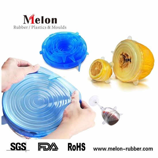 Silicone Reusable Stretch Lids Foods and Bowls Covers pictures & photos