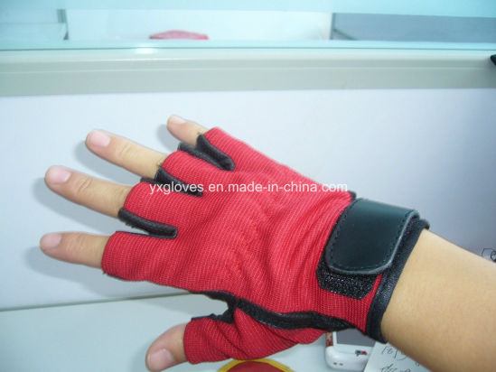 Half Finger Glove-Sport Glove-Bicycle Glove-Riding Glove-Weight Lifting Glove-Safety Glove pictures & photos