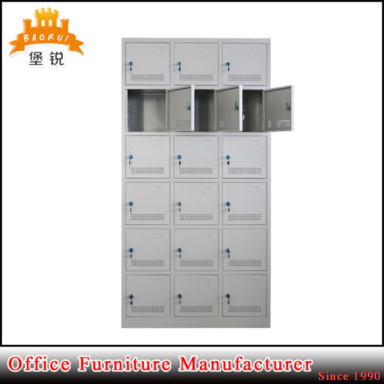 18 Doors Furniture Sports Storage Cabinet Gym Metal Clothing Locker pictures & photos
