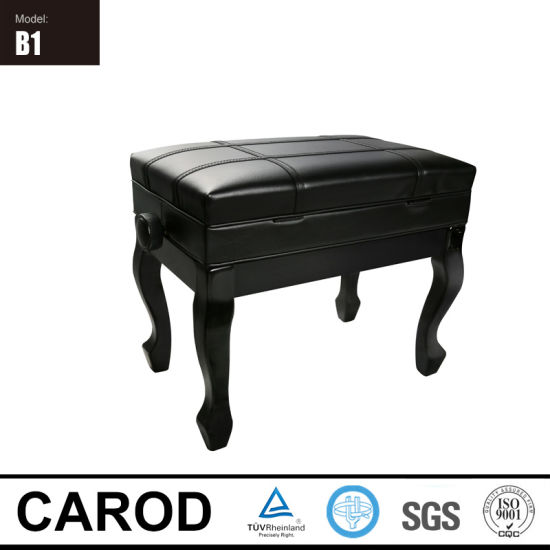 Hot Sale Black Piano Bench pictures & photos