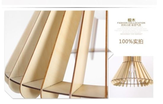 China Home Indoor Wood Frame LED Ceiling Suspended Light - China LED ...