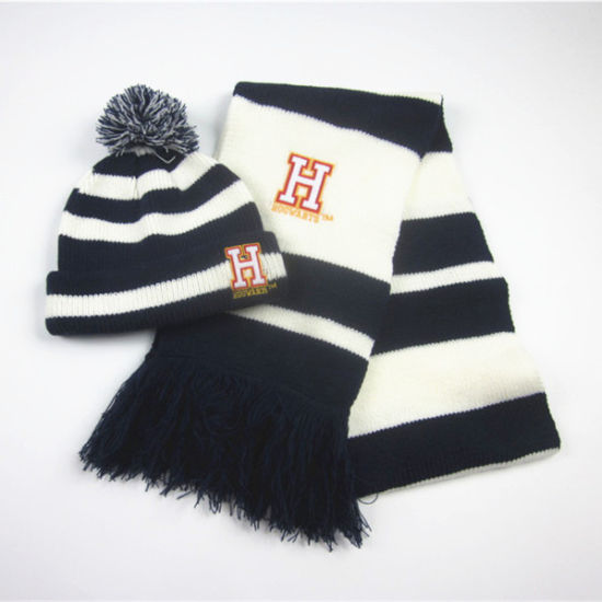 China Boys Fashion Embroidery Winter Hat Scarf Wholesale - China ... 097fac4b1