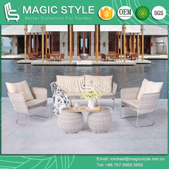 Iris Sofa Set Garden Furniture Patio New Design Wicker Stainless Steel Magic Style