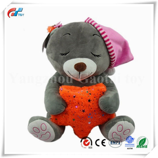 a50e1babe0b Custom China Factory Sleeping Bear Stuffed Soft Bear Toy with Hat   Crown.  Get Latest Price