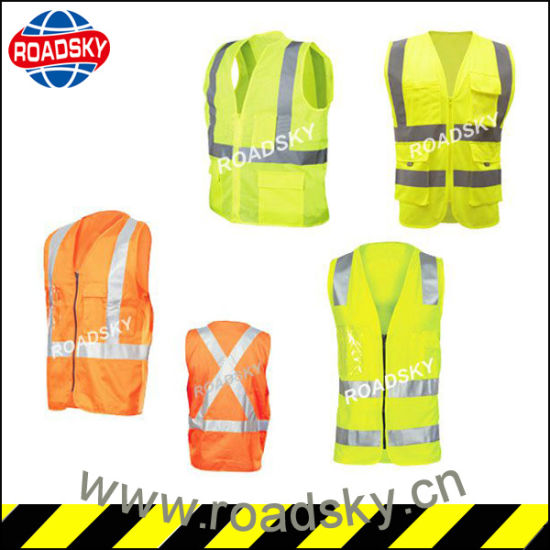 Cheap Antistatic Durable Safety Vest with Magic Tape pictures & photos