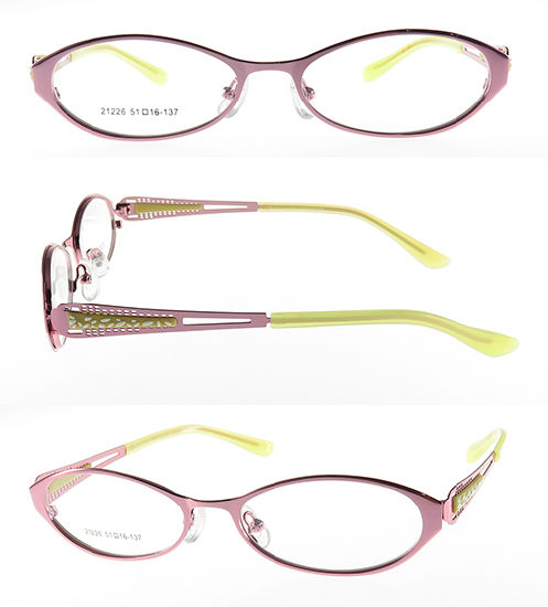 Metal Optical Frame with Double Color Laser on Temples