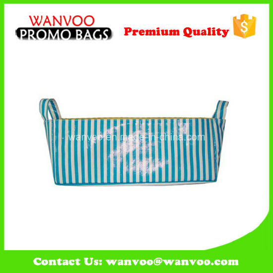 Promotional Rectangle Canvas Diaper Caddy for Baby Product pictures & photos