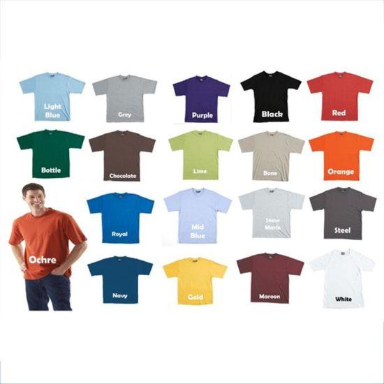135f4598 China Plain Springy 65 Polyester 35 Cotton T Shirt - China T Shirt ...