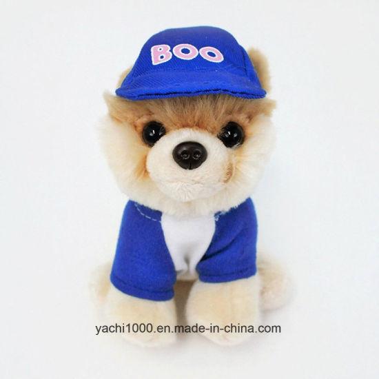 Custom Plush Stuffed Animal Toy Soft Dog with Clothes