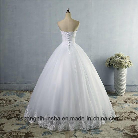 Beautiful Edge Lace Wedding Dress New Bridal Ball Gown pictures & photos