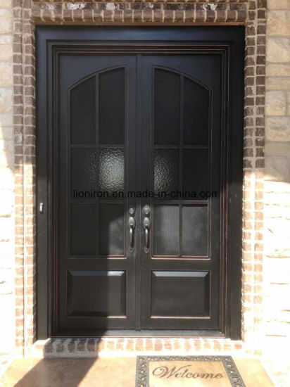 Modern Entry French Main Wrought Iron Door Designs Double
