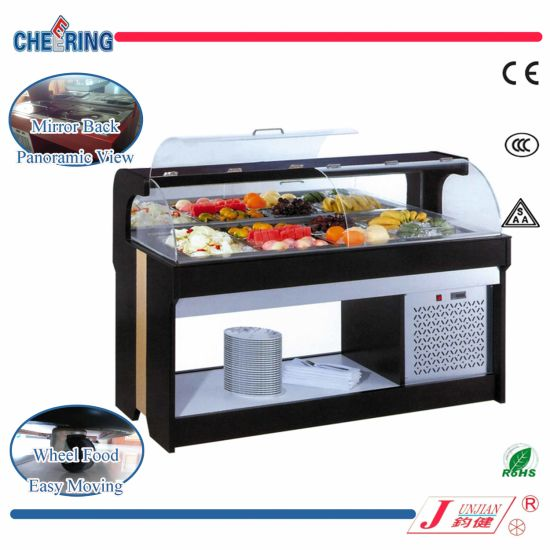 Cafeteria Food Pans ~ China salad bar display case for cafeteria