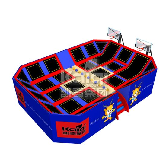 Hot Selling Park Trampoline for Sports Equipment with Basketball Hoop pictures & photos
