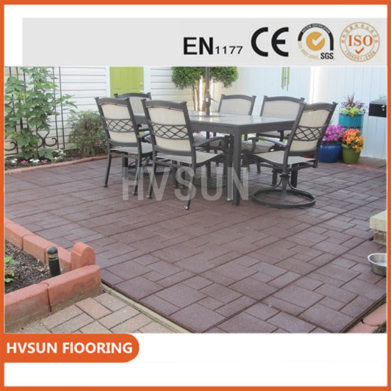 China Custom Cheap Colored Outdoor Rubber Paver Tile Brick