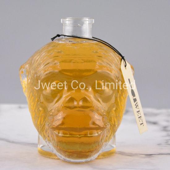 750ml Skull Monkey Glass Bottle for Spirit Whisky Bottle