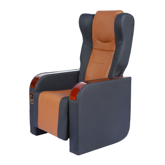 Modern Comfortable Leather Themed Restaurant Chair with Armrest