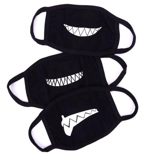 Anti Dust Breathing Cotton Cloth Masks Fashion Black Carbon Air Filter Face Mask
