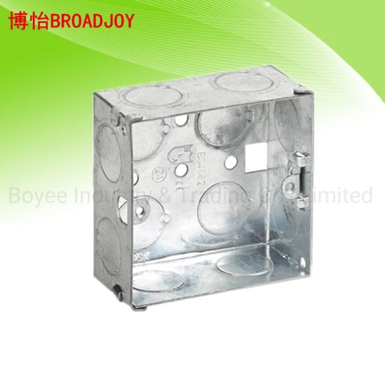 1 Gang Iron Steel Metal Box Electrical Cable Switch Galvanised Gi Box