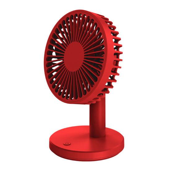NISS Mute Mini Rechargeable Small Fan Led Portable Handheld USB Desktop Office Table Fan
