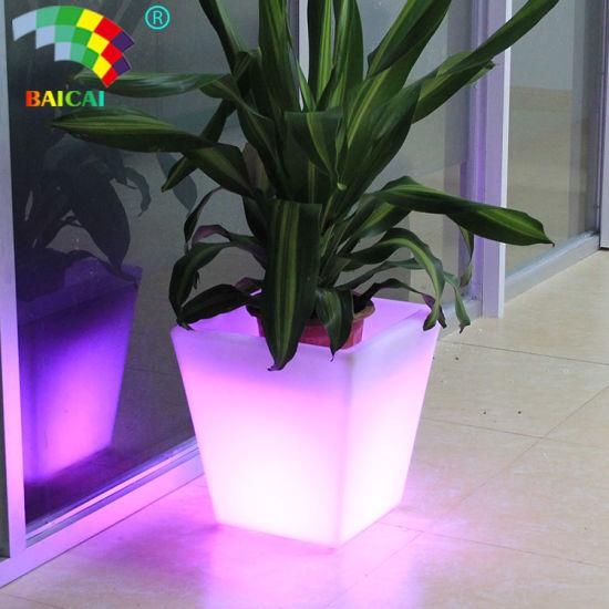 LED Glow Flower Pot/ Large Outdoor Planter/Decoration Vase