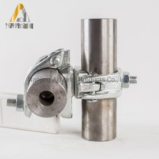 En74 BS1139 Galvanized Pressed and Drop Forged Half Single Putlog Scaffold Right Angle Sleeve Coupler