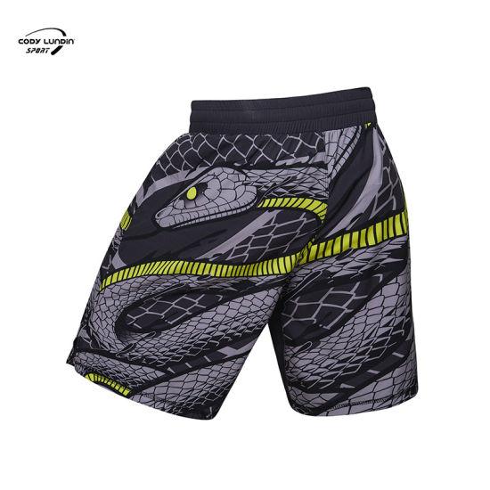 Cody Lundin MMA Shorts Custom High Quality Adult MMA Thai Boxing Shorts Sewing Pattern Nylon Silk Boxer Thai Shorts Plain Blue