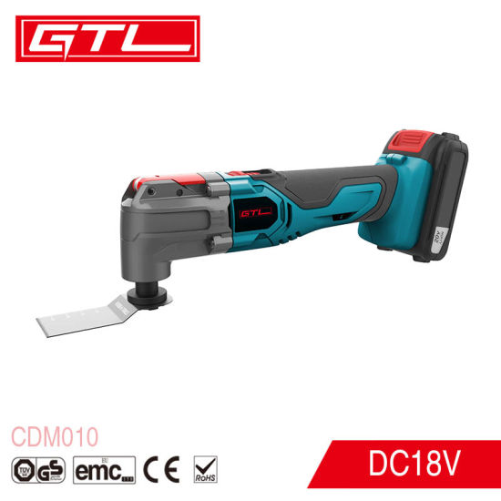 18V Lithium Cutter Tools Quick Blade Change Cordless Oscillating Multi-Tool