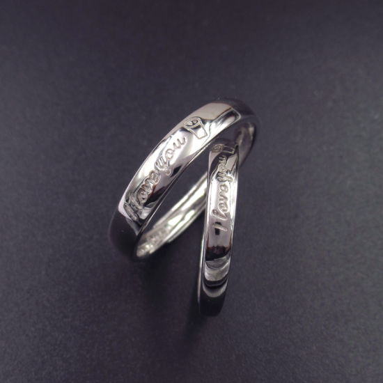 China Personalized Round Shaped Pure Silver No Stone Rings For