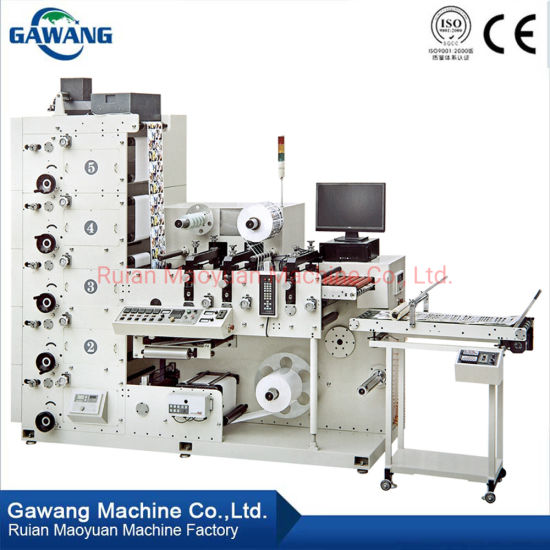 2019 New Automatic Paper Printing Machine 4 Color Printing Machine for Non Drying Adhesive