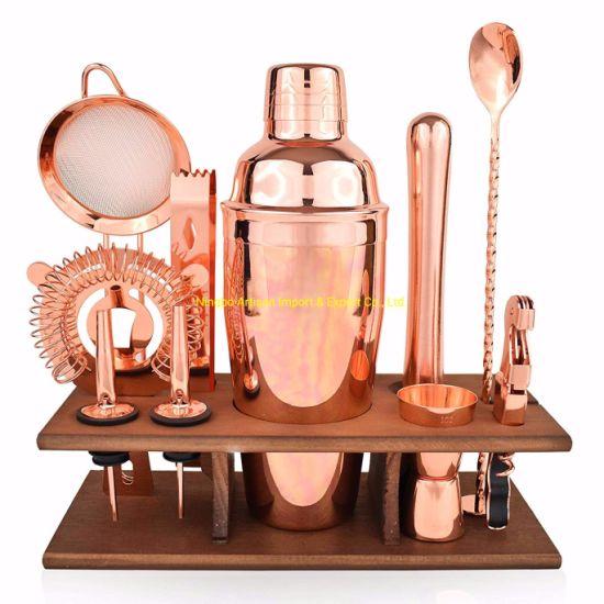 Bartender Kit Copper 11 Piece Rose Gold Cocktail Shaker