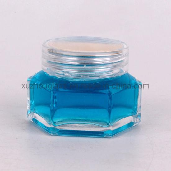 50ml Empty Hexagon Shaped Honey Glass Jar and Cap