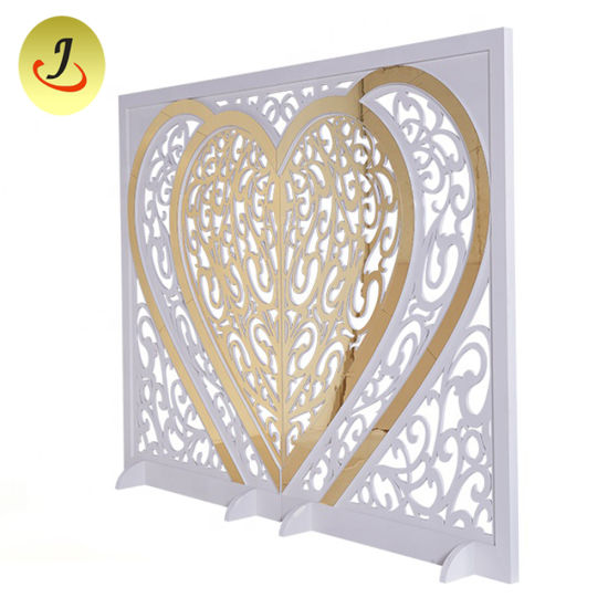 Golden Sweet Heart Decoration for Wedding Hall pictures & photos