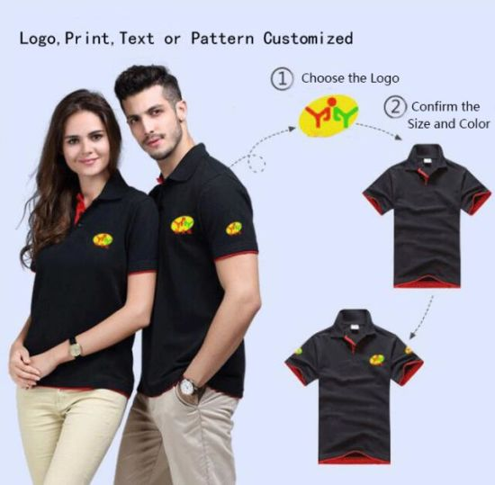 2019 Customized Unisex Polo T-Shirt Short Sleeve Quick-Dry Printing Embroidery Plain Blank Golf Mens Cotton Polo Shirt