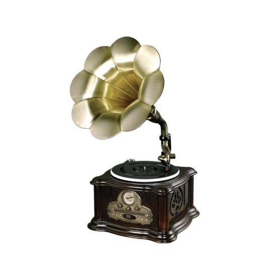 Retro Turntable CD/MP3/USB/SD Bluetooth Audio Player/Gramophone