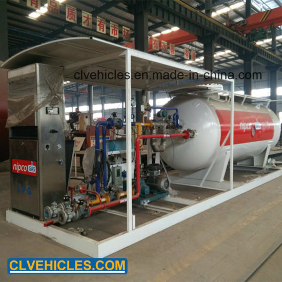 10cbm LPG Skid Station 5tons LPG Gas Tank Station 10, 000liters LPG Filling Station