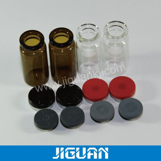 Clear Glass Bottle 10ml Vial with Rubber Stopper Flip off Cap