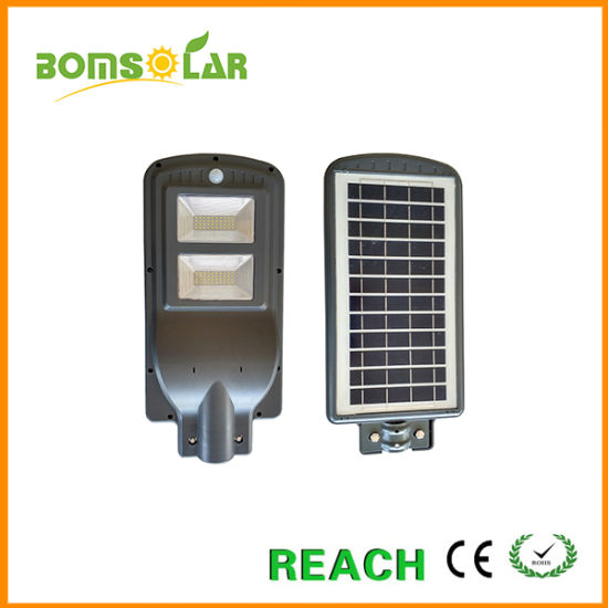 on Sale Integrated Solar Street Lighting System 40W with Radar Sensor Working Time Dusk to Dawn