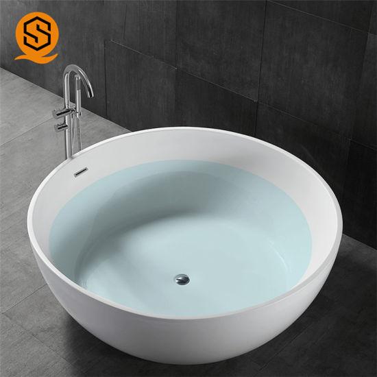 Modern Freestanding Soaking Bath Tub, Round Soaking Tubs