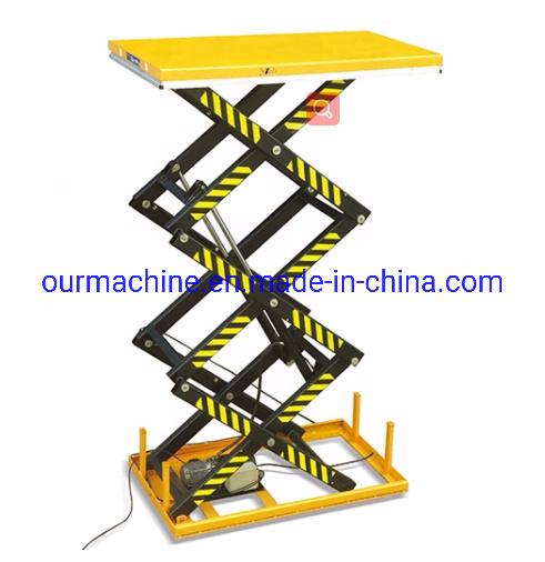 China 1t 2t Fixed Type Triple Scissors Table Ht1000