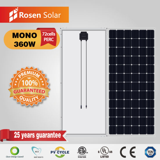25 Years Warranty A Grade 360W 72 Cell Solar Photovoltaic Solar Module Panel