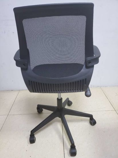 Wholesale Black Cloth Ergonomic Office Chairs Medium Back Executive Furniture Office Chair Fecb1715 China Office Chair Swivel Chair Made In China Com