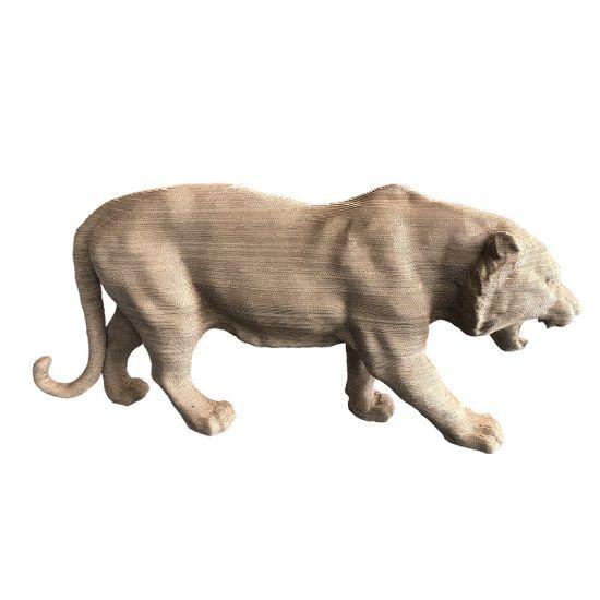 Wholesale Paper Crafts Corrugated Carton Tiger Cardboard Lion 172*42*80cm