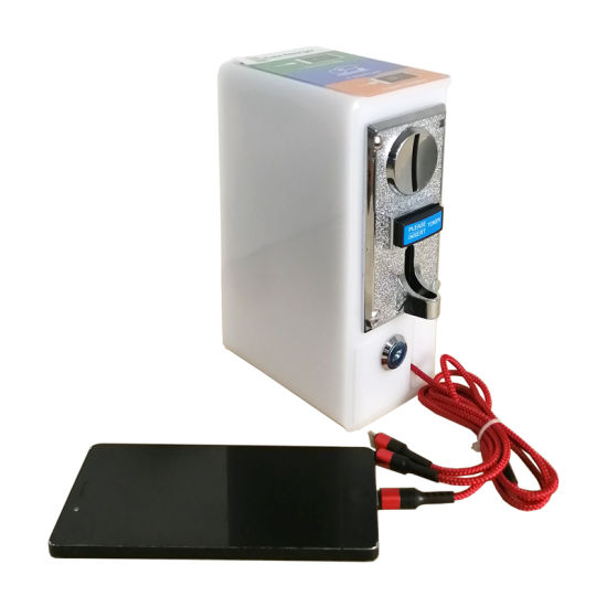 New Product 2020 Small 3-in-1 Data Cable Coin-Operated Cellphone Charger Charging Machine Installed in The Restaurant