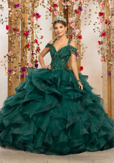 0b2725e701 China Green Quinceanera Dress Beaded Lace Corset Bridal Ball Gown ...
